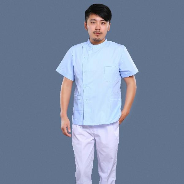 蓝白护理工作服