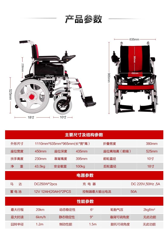电动轮椅车参数
